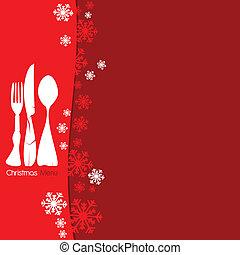 navidad, menú