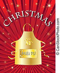 navidad, menú, rojo