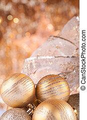 navidad, oro, baratijas