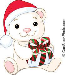 navidad, oso, teddy