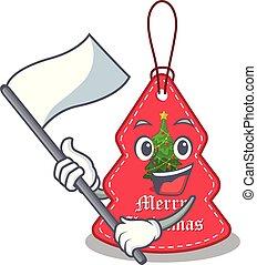 navidad, paredes, bandera, etiquetas, ahorcadura, caricatura
