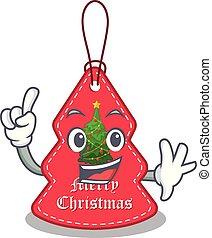 navidad, paredes, etiquetas, ahorcadura, caricatura, dedo