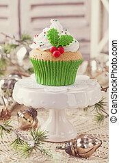 navidad, pastel de taza