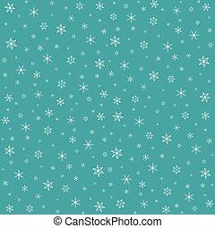 navidad, patrón, con, snowflakes., vector, ilustración