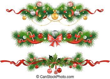 navidad, picea, decoración, árbol