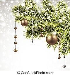 navidad, picea, plano de fondo, branches.