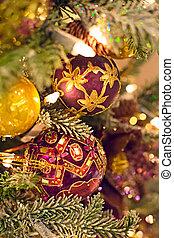 navidad, plano de fondo, árbol