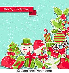 navidad, plano de fondo, card., alegre, invitación