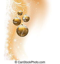 navidad, plano de fondo, chuchería