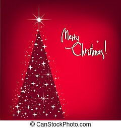 navidad, plano de fondo, con, árbol, y