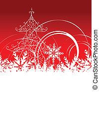 navidad, plano de fondo, con, lugar, para, su, texto