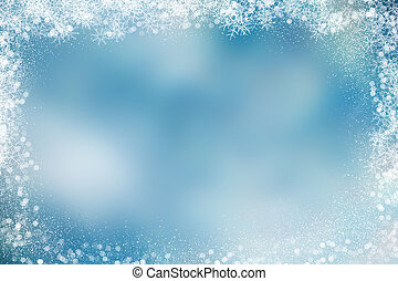 navidad, plano de fondo, con, nevoso, frontera