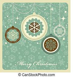 navidad, plano de fondo, con, retro, patrón