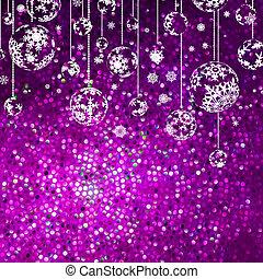 navidad, plano de fondo, con, snowflakes., eps, 8