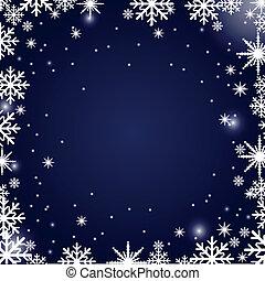 navidad, plano de fondo, copos de nieve