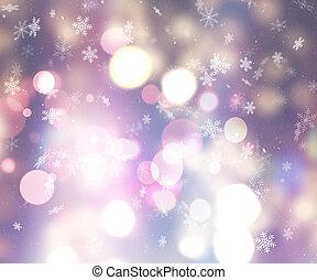 navidad, plano de fondo, de, copos de nieve