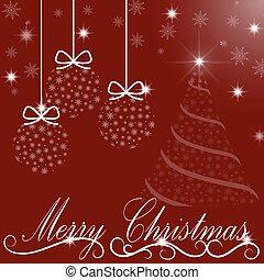 navidad, plano de fondo, de, transparente, pelotas, árboles...