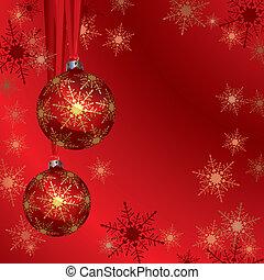 navidad, plano de fondo, (illustration)