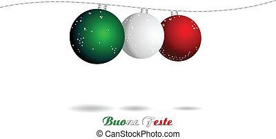 navidad, plano de fondo, italiano