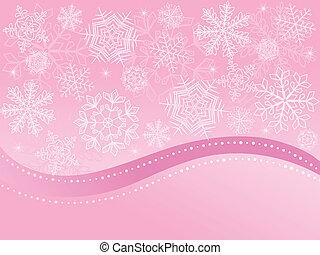 navidad, plano de fondo, rosa