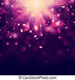 navidad, plano de fondo, violeta, resumen