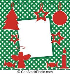 navidad, plantilla, con, marco de la foto