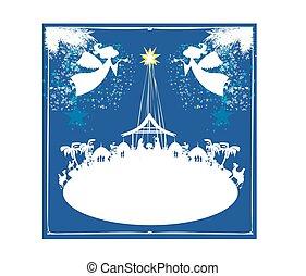 navidad, religioso, lugar de nacimiento