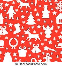 navidad, símbolo, patrón, seamless