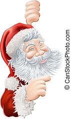 navidad, santa claus, señalar