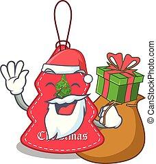 navidad, santa, paredes, etiquetas obsequio, ahorcadura,...