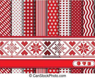 navidad, scrapbooking, rojo