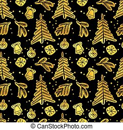 navidad, seamless, pattern.