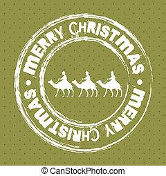 navidad, sello