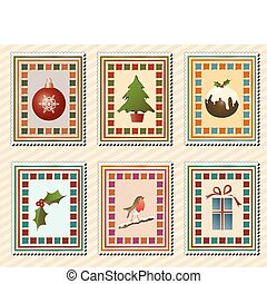 navidad, sellos