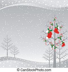 navidad, tarjeta de felicitación