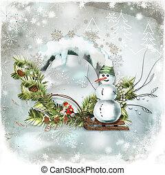 navidad, tarjeta