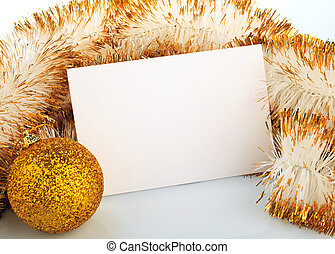 navidad, tarjeta, saludo