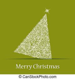 navidad, tema, con, árbol de navidad
