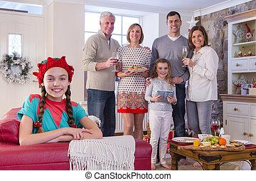 navidad, tiempo familia