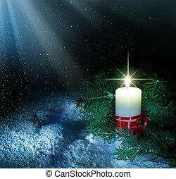 navidad, vela