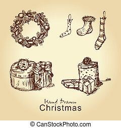 navidad, vendimia, colección