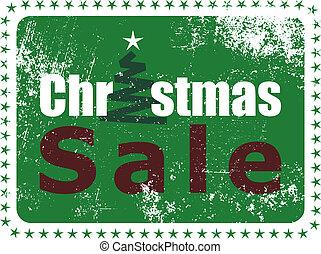 navidad, venta, sello de goma