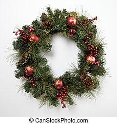 navidad, wreath.
