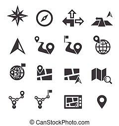 navigáció, ikon
