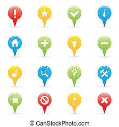 navigáció, ikonok
