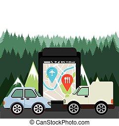 navigatiesysteem, technologie