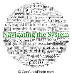 Navigating the System concept in word tag cloud