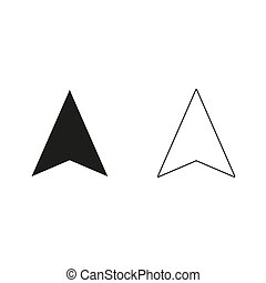 navigation arrow - green vector icon