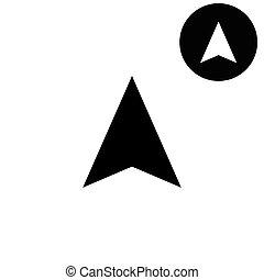 navigation arrow  - white vector icon
