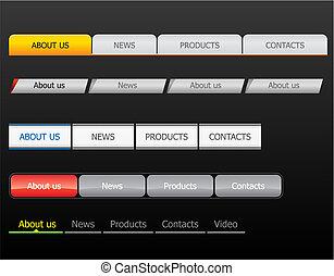 Navigation bars - Navigation bar templates